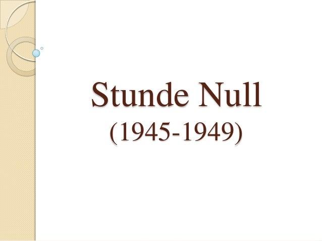 Stunde Null (1945-1949)