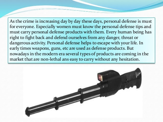 As the crime is increasing day by day these days, personal defense is must for everyone. Especially women must know the pe...