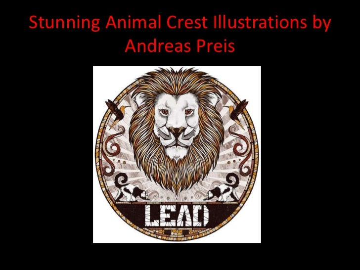 Stunning Animal Crest Illustrations by           Andreas Preis