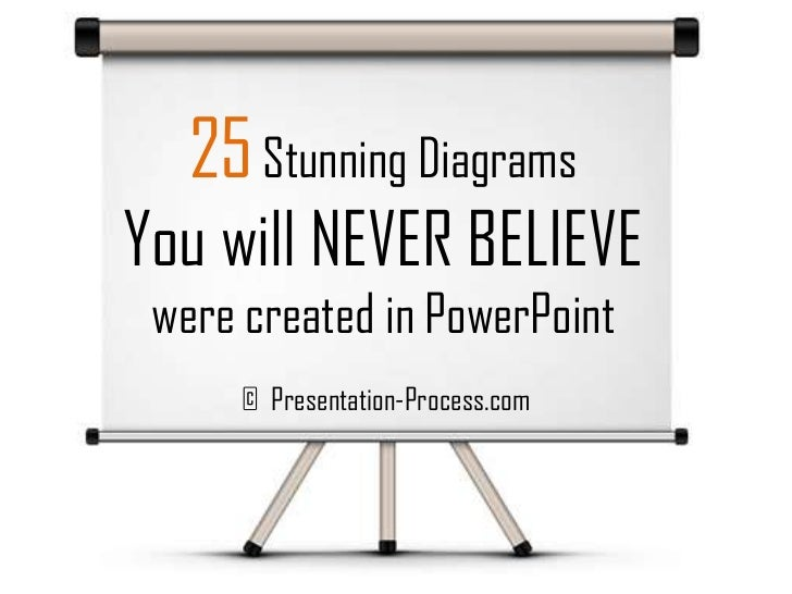 25 Stunning DiagramsYou will NEVER BELIEVE were created in PowerPoint      © Presentation-Process.com