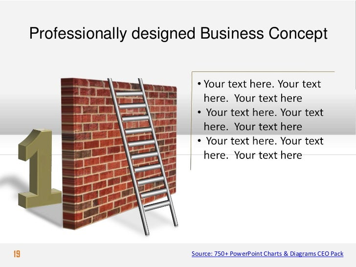 Professionally designed Business Concept19                        Source: 750+ PowerPoint Charts & Diagrams CEO Pack