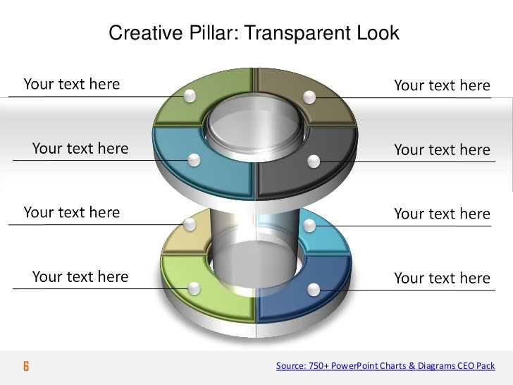 Creative Pillar: Transparent Look6                      Source: 750+ PowerPoint Charts & Diagrams CEO Pack