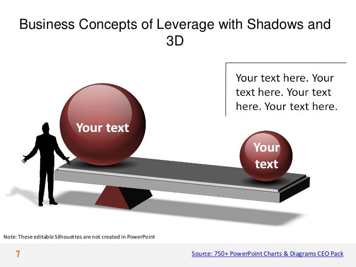 Business Concepts of Leverage with Shadows and                            3DNote: These editable Silhouettes are not creat...
