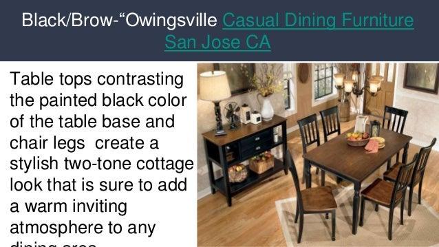 ... 5. Black/Brow U201cOwingsville Casual Dining Furniture San Jose ...