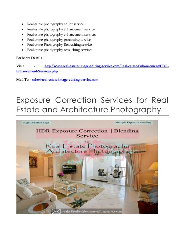 Photography and Editing Services