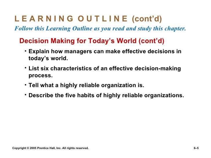 explain any six decision errors and biases that managers make List and explain the common decision biases or errors  six step decision-making process  managers will make the decision with the greatest personal payoff for.