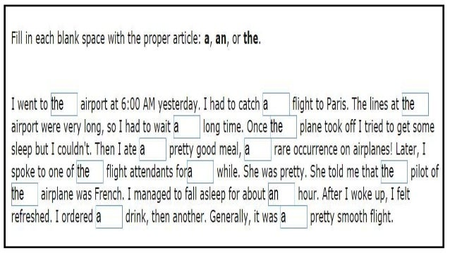 english articles Articles are used to indicate whether a noun in a sentence is specific or general  this guide will help you learn more about the articles in english.