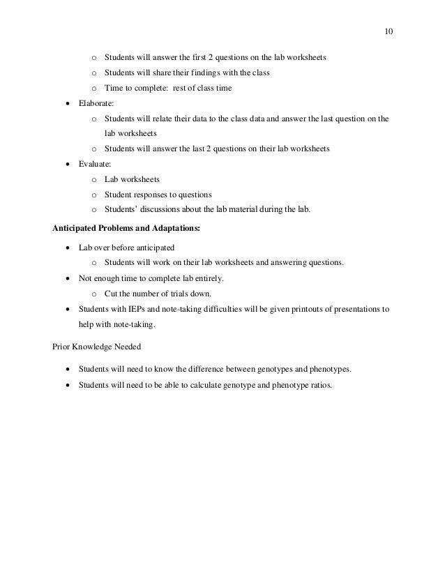 Student Teaching Work Sample