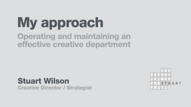 1) What does the Creative Department do?