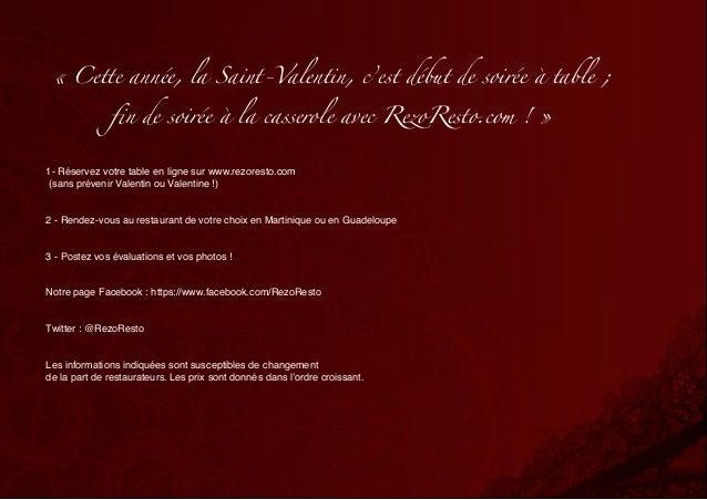 «Cette année, la Saint-Valentin, c'est début de soirée à table ;              fin de soirée à la casserole avec RezoResto...