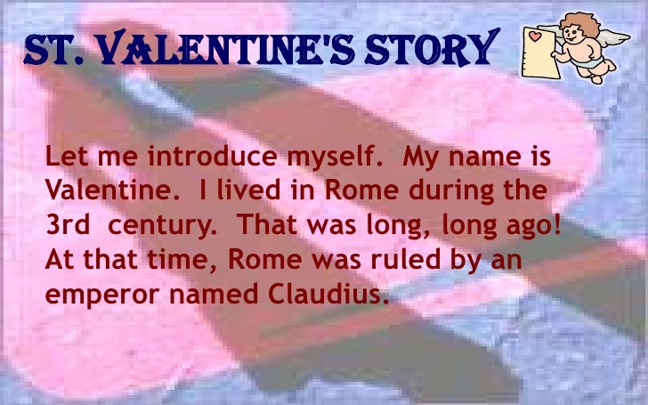 St. Valentineu0026apos;s Story ...