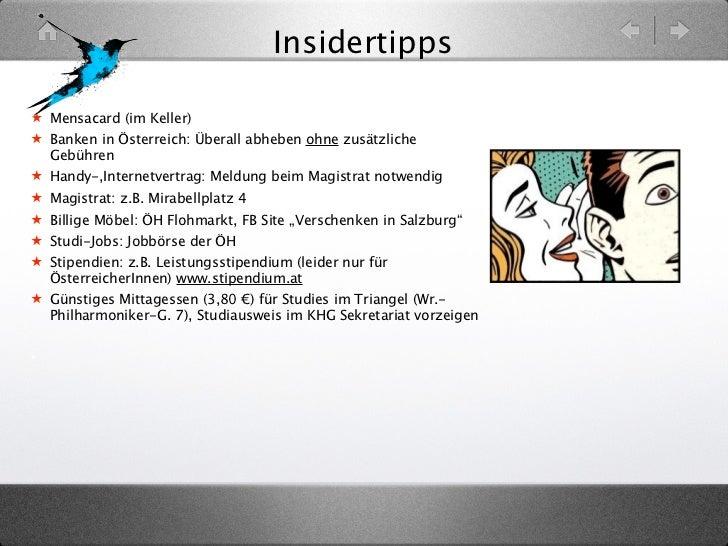 Insidertipps★ Mensacard (im Keller)★ Banken in Österreich: Überall abheben ohne zusätzliche  Gebühren★ Handy-,Internetvert...