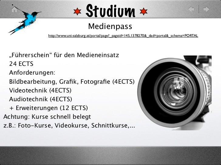 Studium                                     Medienpass               http://www.uni-salzburg.at/portal/page?_pageid=145,13...