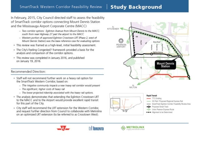 SmartTrack Western Corridor Feasibility Review