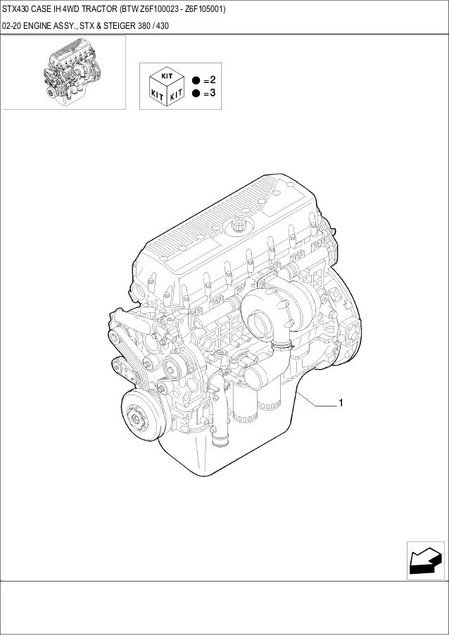 Stx 430 CASE IH 4WD Tractor parts catalog