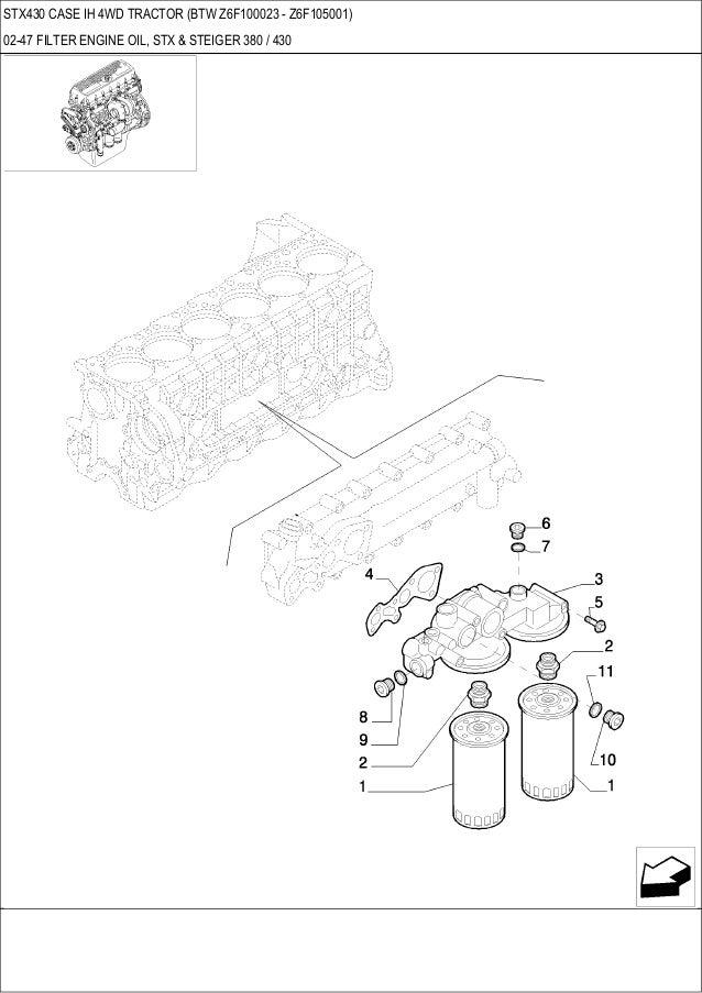 Stx 430 CASE IH 4WD Tractor parts catalog