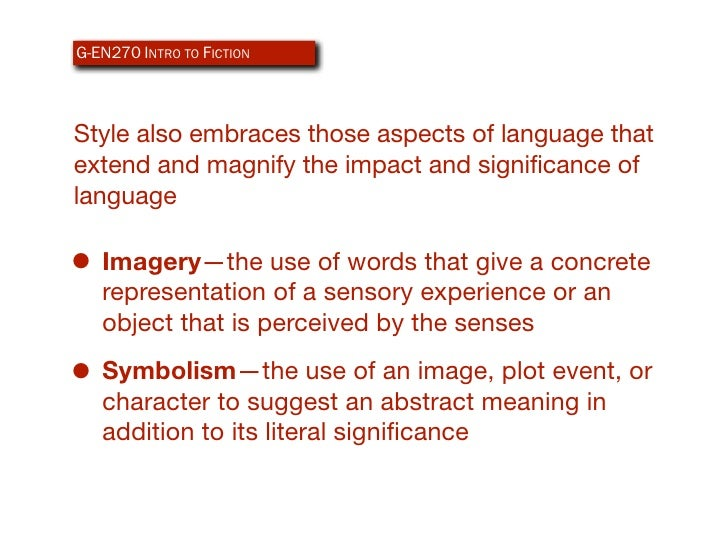 Elements of Fiction Style