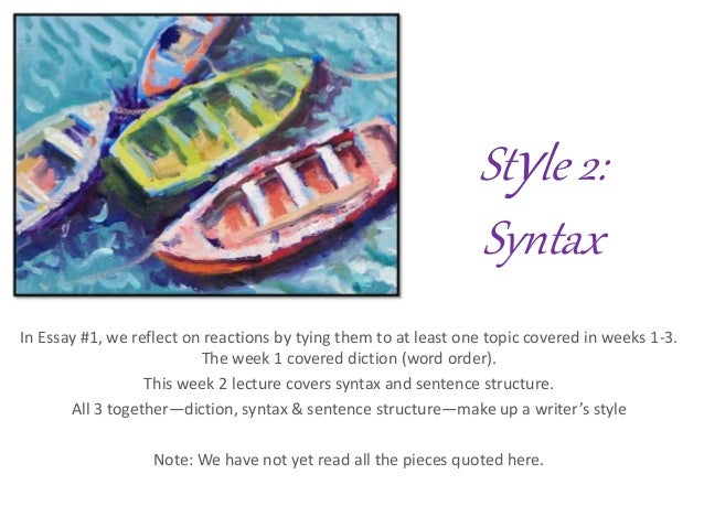 Style 2 syntax fd