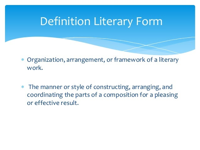 Style definition literature Research paper Example