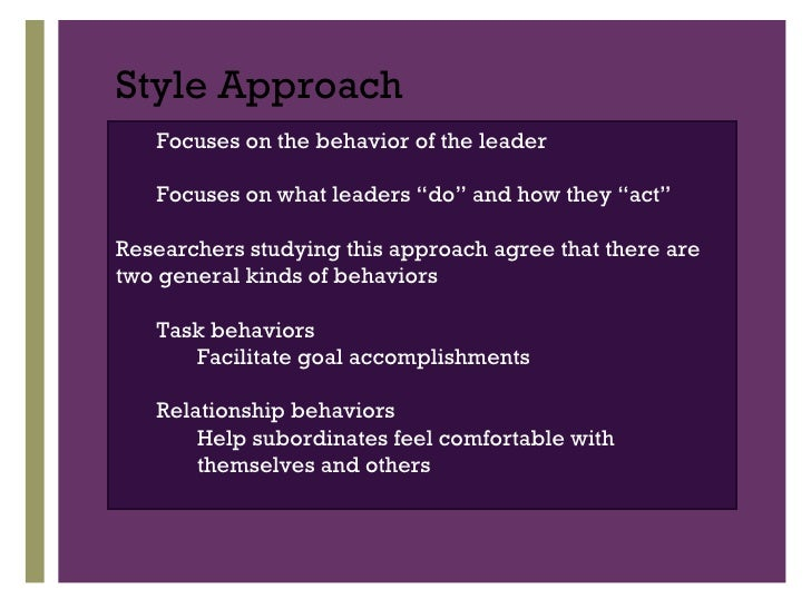 style approach The key to being an effective leader is to have a broad repertoire of styles and to use them appropriately - 6 management styles and when best to use them.