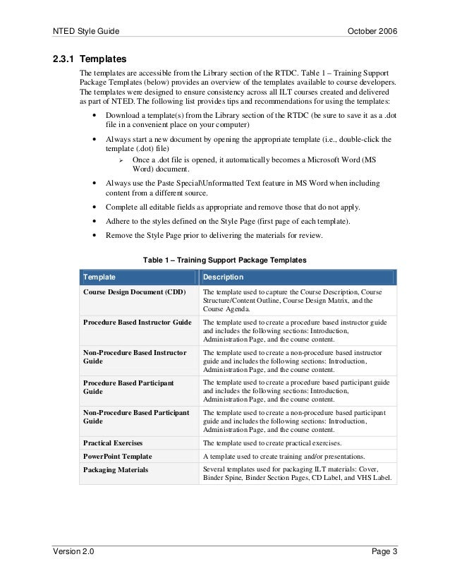 styleguide rh slideshare net Participant Workbook Templates Tranining Participant Guides