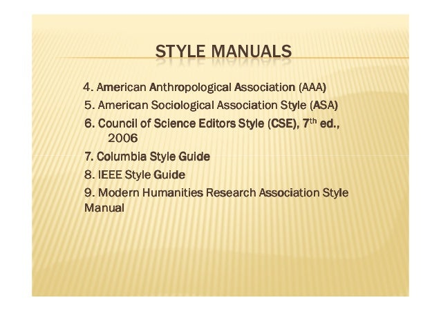 council of biology editors style manual