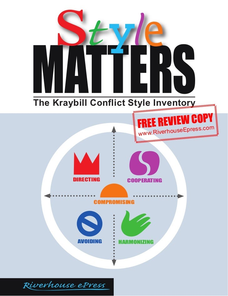 The Kraybill Conflict Style Inventory                              FREE REVIseWresO.coY                                   ...