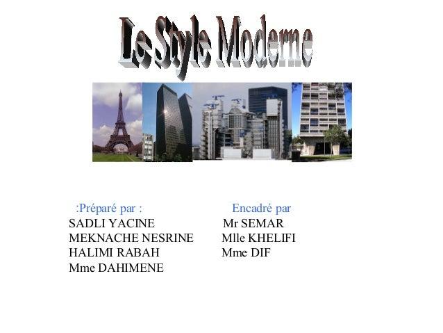 :Préparé par : SADLI YACINE MEKNACHE NESRINE HALIMI RABAH Mme DAHIMENE  Encadré par Mr SEMAR Mlle KHELIFI Mme DIF