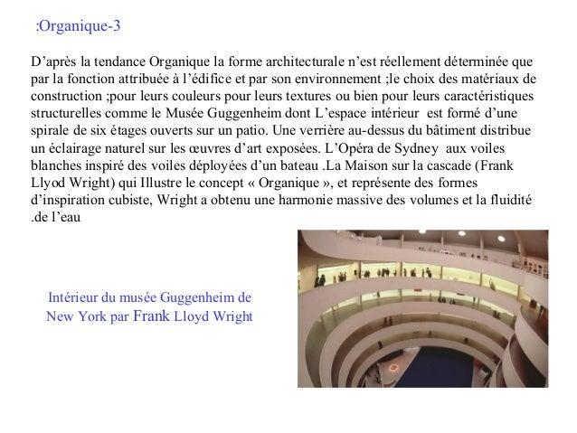 :Organique-3 D'après la tendance Organique la forme architecturale n'est réellement déterminée que par la fonction attribu...