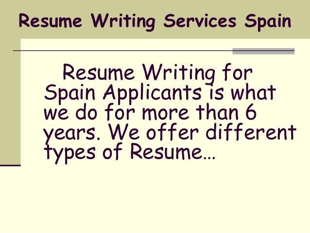 Cv writing services spain
