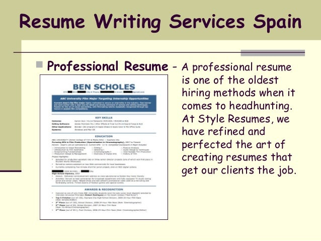 Select You Resume Service By Experience Levels: