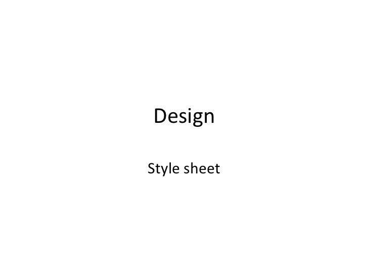 DesignStyle sheet