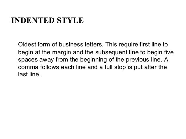form of a business letter