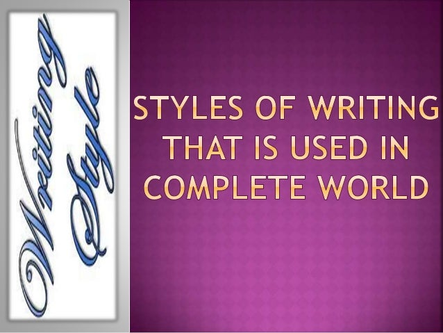There are different writing styles being utilized around the world. These writing styles are separated into two essential ...