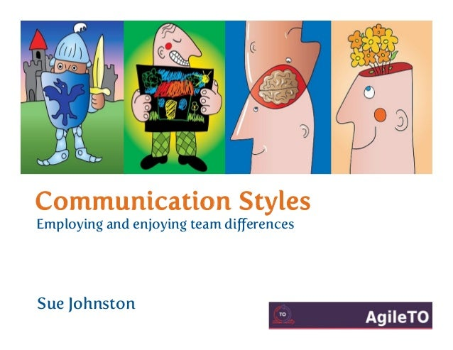 Communication Styles Employing and enjoying team differences Sue Johnston