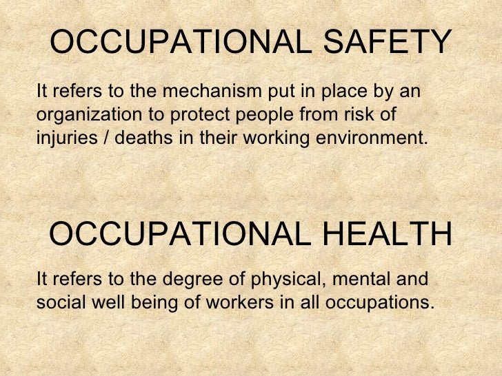 an analysis of the occupational safety and heath act of 1970 The elusive burden of proof under the occupational safety and health act of 1970 by david ford hunt t he occupational safety and health act of 1970,' which became effec.