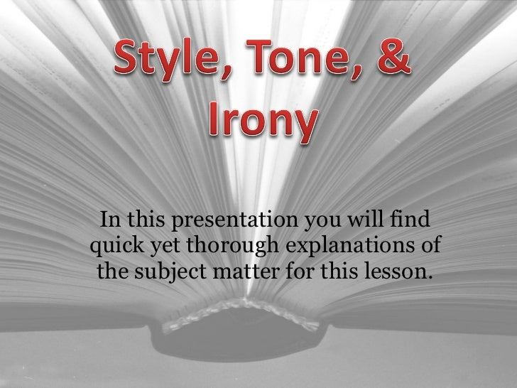 In this presentation you will find quick yet thorough explanations of the subject matter for this lesson.