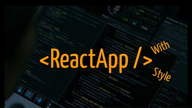 <ReactApp />Style With