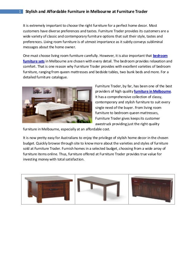 c0d65838b66 1 Stylish and Affordable Furniture in Melbourne at Furniture Trader It is  extremely important to choose ...