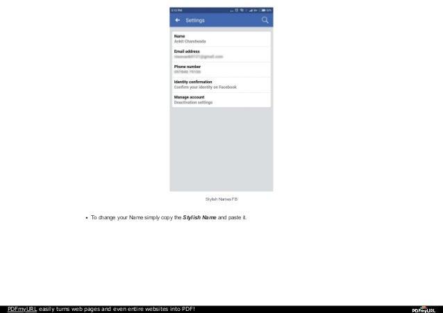 Stylish FB Names | Latest Stylish Facebook Profile Names