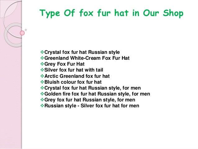 Stylish fox fur hat both men  amp  women amifur 0df9e504acdb
