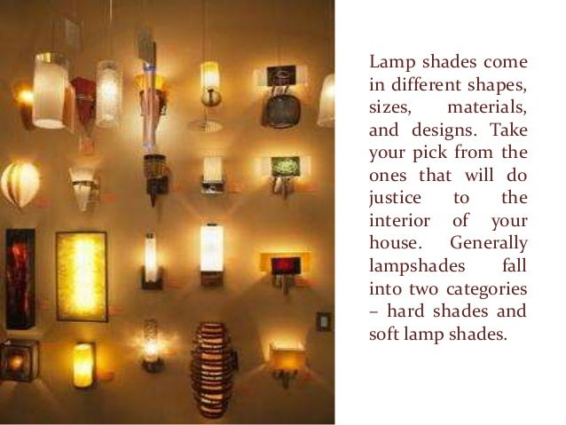 stylish lamp shades for your home