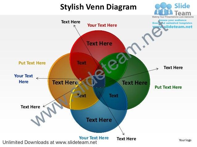 stylish venn diagram powerpoint diagrame templates 0712, Powerpoint templates