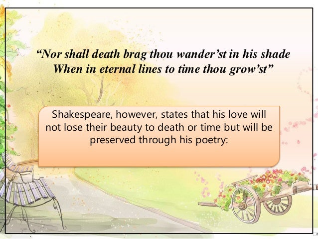 identifying the tone of shakespeares shall The following are only a smattering of examples of the wide uses of tone in  literature  life and death appeared to me ideal bounds, which i should first  break  do with hate, but more with love, – romeo and juliet by william  shakespeare.