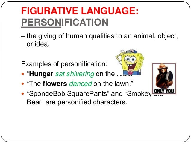 stylistic devices 10 figurative language personification