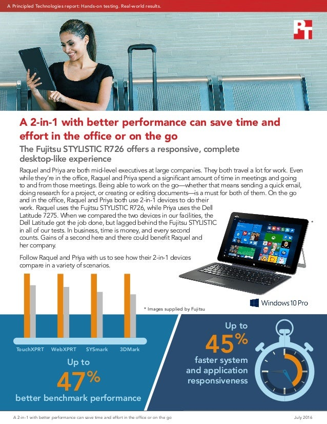 A 2-in-1 with better performance can save time and effort in the office or on the go July 2016 Up to 47% better benchmark...