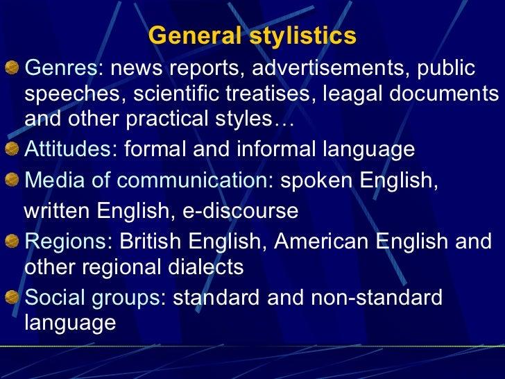general stylistics