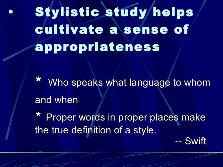 relationship between style and stylistics