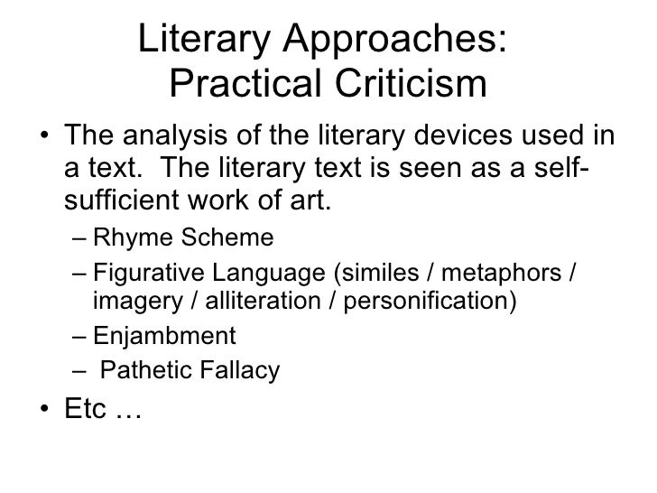 a practical criticism of for the In lieu of an abstract, here is a brief excerpt of the content: hugh bredin i a richards and the philosophy of practical criticism in much of the english-speaking world, an essential component of literary studies is the exercise known as practical criticism the name, and to some extent the.