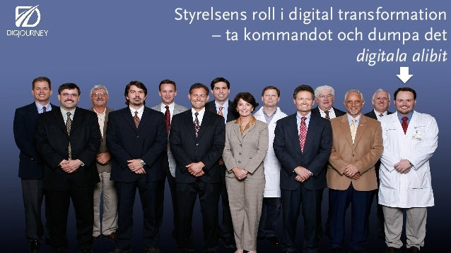 Styrelsens roll i digital transformation – ta kommandot och dumpa det digitala alibit